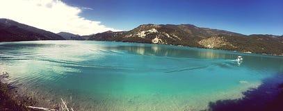 Castillon lake Stock Photo