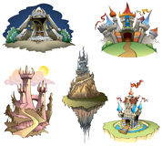 castillos stock de ilustración
