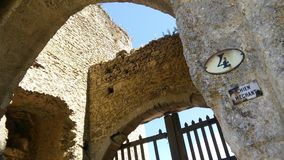 Castillos de Francia: Château-sur-Epte Imagen de archivo