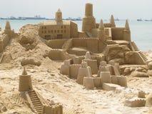 Castillos de la arena Fotos de archivo libres de regalías