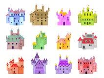 Castillos del cuento de hadas de la historieta fotografía de archivo libre de regalías
