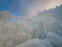 Castillos del hielo Foto de archivo libre de regalías