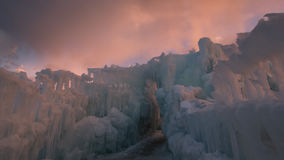 Castillos del hielo Imágenes de archivo libres de regalías