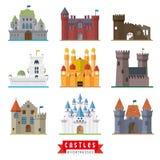 Castillos e iconos del vector de las fortalezas Imagen de archivo