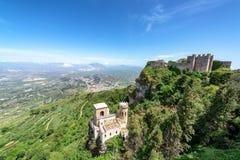 Castillos en Erice, Italia fotografía de archivo libre de regalías