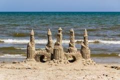 Castillos en la arena, puerto Aransas Tejas Fotos de archivo