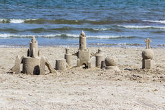 Castillos en la arena, puerto Aransas Tejas Imagen de archivo