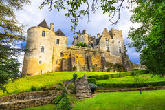 Castillos hermosos de Francia imagen de archivo