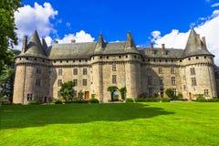 Castillos hermosos de las series de Francia imágenes de archivo libres de regalías