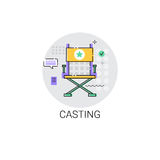 Casting Camera Film Production Industry Icon. Vector Illustration Royalty Free Stock Images