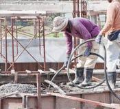 Casting Concrete stock photos