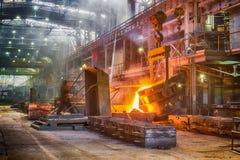 Casting ferroalloy factory Stock Photo