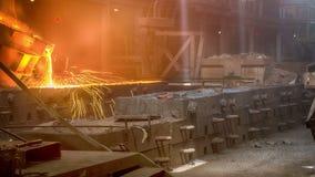 Casting ferroalloy factory stock video