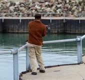 Casting fisherman Stock Photos