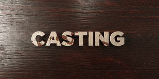 Casting - grungy wooden headline on Maple  - 3D rendered royalty free stock image. This image can be used for an online website banner ad or a print postcard Stock Photo