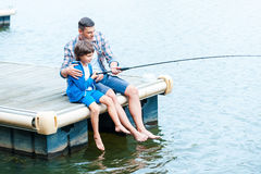 Casting off together. Stock Photography