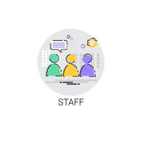 Casting Staff Camera Film Production Industry Icon. Vector Illustration Stock Photography