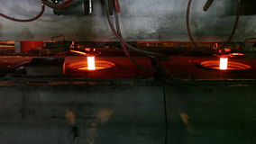 Casting of steel stock video footage