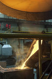 Casting in Steel Mill Royalty Free Stock Photo