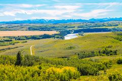 Casting a view of the Bow River. From Glenbow Ranch Provincial Recreation Area, Alberta, Canada Stock Image