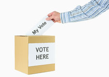 Casting a vote Royalty Free Stock Images