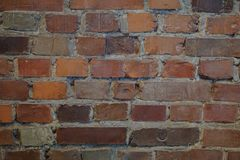 A casting of the Warsaw Ghetto Wall. An interesting brick wall at the Holocaust museum in Washington D.C Stock Photo