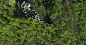 Руины castl Nevitsky сток-видео