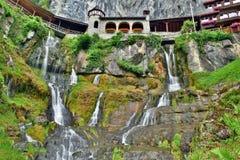CastleÂs vattenfall Arkivfoto