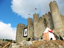 Castle Of Óbidos. The castle of Óbidos in portugal with medieval festival Royalty Free Stock Photo