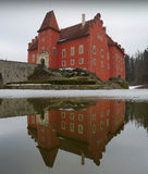 Castle Cervena Lhota. In the South Bohemia royalty free stock image