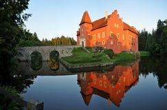 Castle Äervenà ¡ Lhota στοκ εικόνα