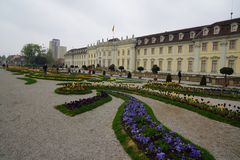Castle στο ludwigsburg μπαρόκ στοκ φωτογραφία με δικαίωμα ελεύθερης χρήσης