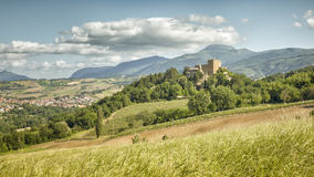 Castle Ιταλία Marche Στοκ Εικόνα