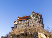 Castle και εκκλησία σε Quedlinburg, Γερμανία Στοκ εικόνες με δικαίωμα ελεύθερης χρήσης