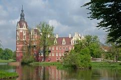 Castle κακό Muskau, Γερμανία Στοκ φωτογραφία με δικαίωμα ελεύθερης χρήσης
