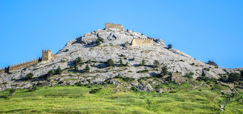 Castle με Bailey στο λόφο Στοκ Φωτογραφία
