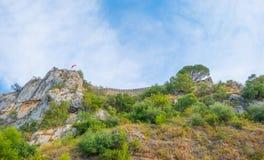 Castle πάνω από έναν λόφο Στοκ Εικόνες