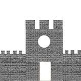 Castle που απομονώνεται στο άσπρο υπόβαθρο απεικόνιση αποθεμάτων