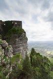 Castle που αφιερώνεται στη θεά Αφροδίτη, στο βουνό Erice Στην ΤΣΕ Στοκ Εικόνες