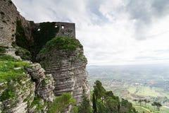 Castle που αφιερώνεται στη θεά Αφροδίτη, στο βουνό Erice Στην ΤΣΕ Στοκ φωτογραφία με δικαίωμα ελεύθερης χρήσης