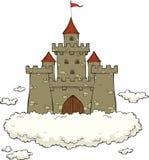 Castle σε ένα σύννεφο Στοκ Φωτογραφία