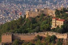 Castle σε Alanya Τουρκία Στοκ Εικόνες