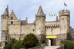 Castle σε Antwerpen, Βέλγιο Στοκ εικόνα με δικαίωμα ελεύθερης χρήσης