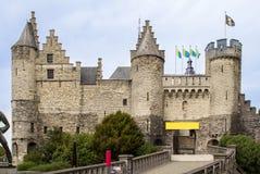 Castle σε Antwerpen, Βέλγιο Στοκ Εικόνες