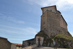 Castle σε Frontone - την Ιταλία Στοκ Εικόνες