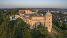 Castle σε Janowiec, καταστροφές, επαρχία του Lublin, Πολωνία, 08 2015 Στοκ εικόνες με δικαίωμα ελεύθερης χρήσης