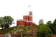 Castle σε Kastellholmen Στοκ Φωτογραφίες
