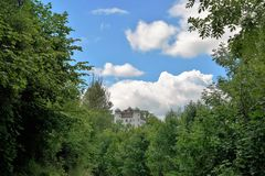Castle σε MÃ ¼ hlheim σε Δούναβη Στοκ εικόνα με δικαίωμα ελεύθερης χρήσης
