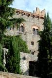 Castle σε Monselice μεταξύ των δέντρων στο Βένετο (Ιταλία) στοκ εικόνες