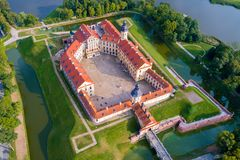 Castle σε Nesvizh, περιοχή του Μινσκ, της Λευκορωσίας Στοκ Εικόνα